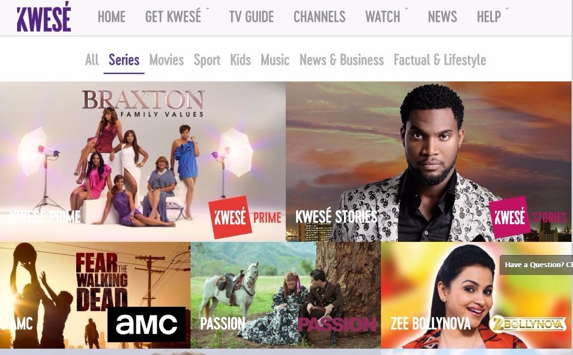 KweseTV Series Channels-2