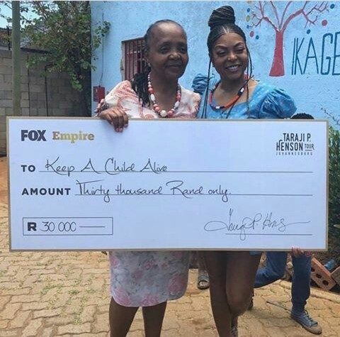 Read more about the article TARAJI P HENSON DONATES 30,000 RAND TO…