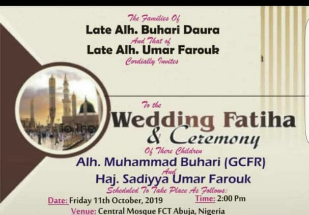 Read more about the article COULD THIS BE NIGERIA'S PRESIDENT~ MUHAMMAD BUHARI'S ANOTHER WEDDING OR…
