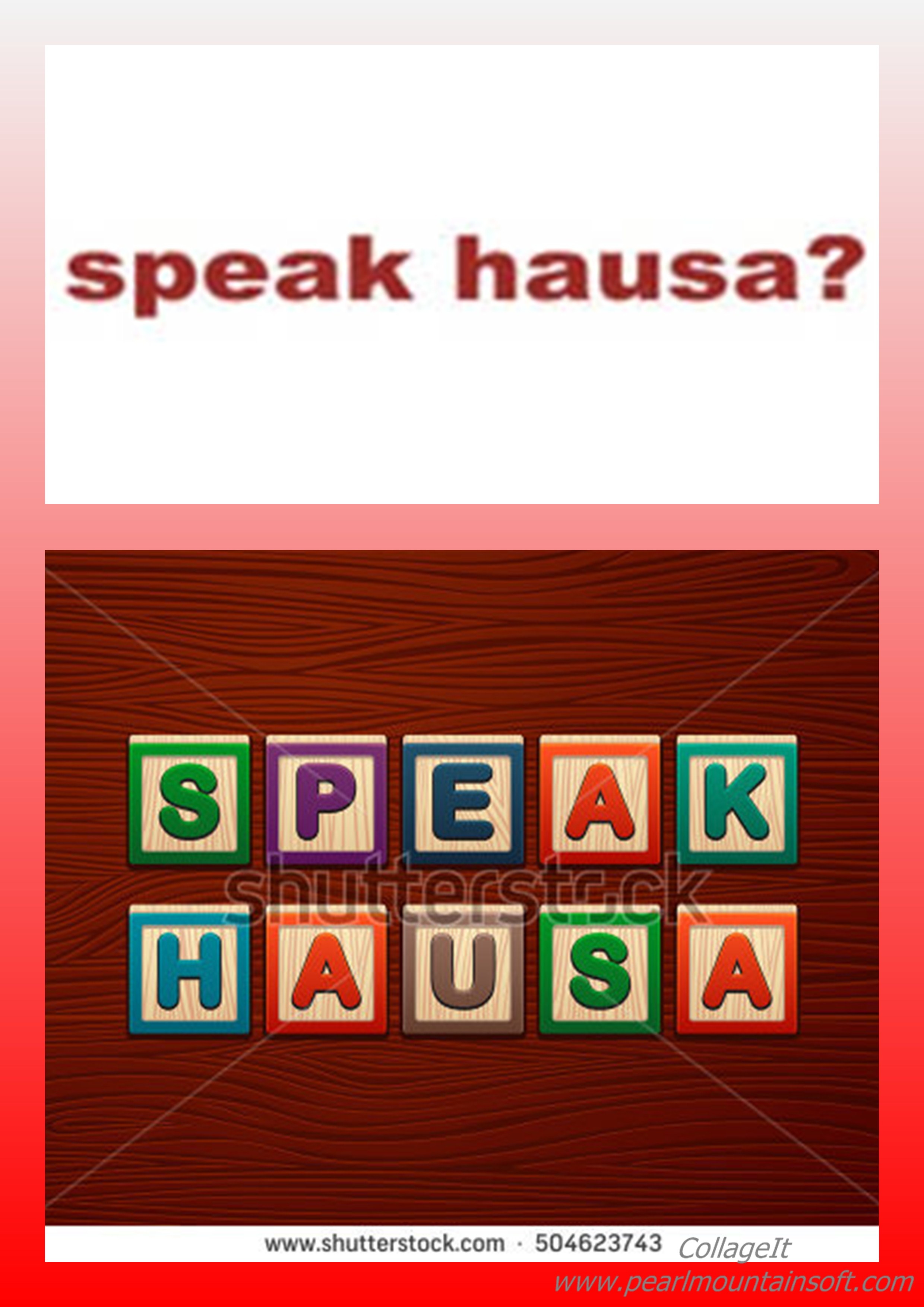 I WANT TO SPEAK HAUSA TODAY (CLASS 213)