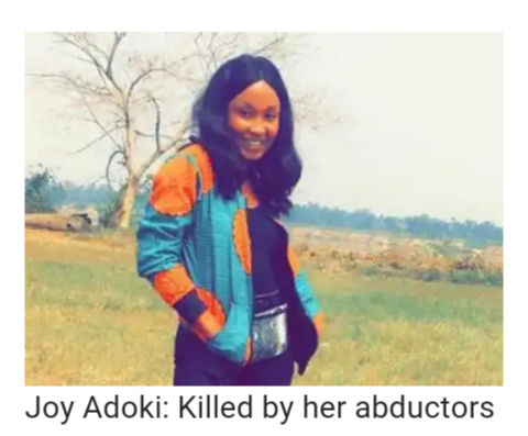 (ABDUCTORS RAPE AND KILL UNIPORT STUDENT~JOY FAVOUR ADOKI) I WEEP AT THE FUTURE OF NIGERIAN WOMEN; THEY ARE CONSTANTLY RAPED WHILE GOVERNMENT IS NOT TAKING EXTREMELY STRICT ACTIONS AGAINST RAPISTS. EVEN THE GOVERNMENT HAS RAPED…